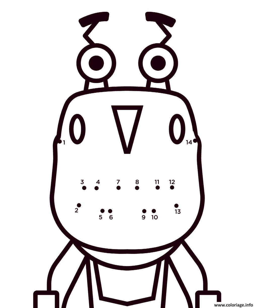 Dessin Rusty Rivets Easy Connect the Dots Coloriage Gratuit à Imprimer