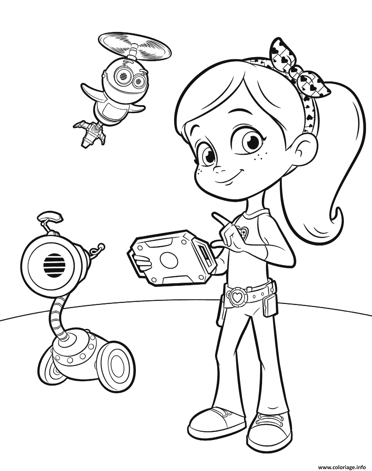 Coloriage Rusty Rivets For Girls Dessin à Imprimer