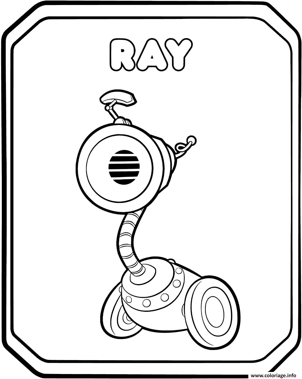 Dessin Rusty Rivets Characters Ray Coloriage Gratuit à Imprimer