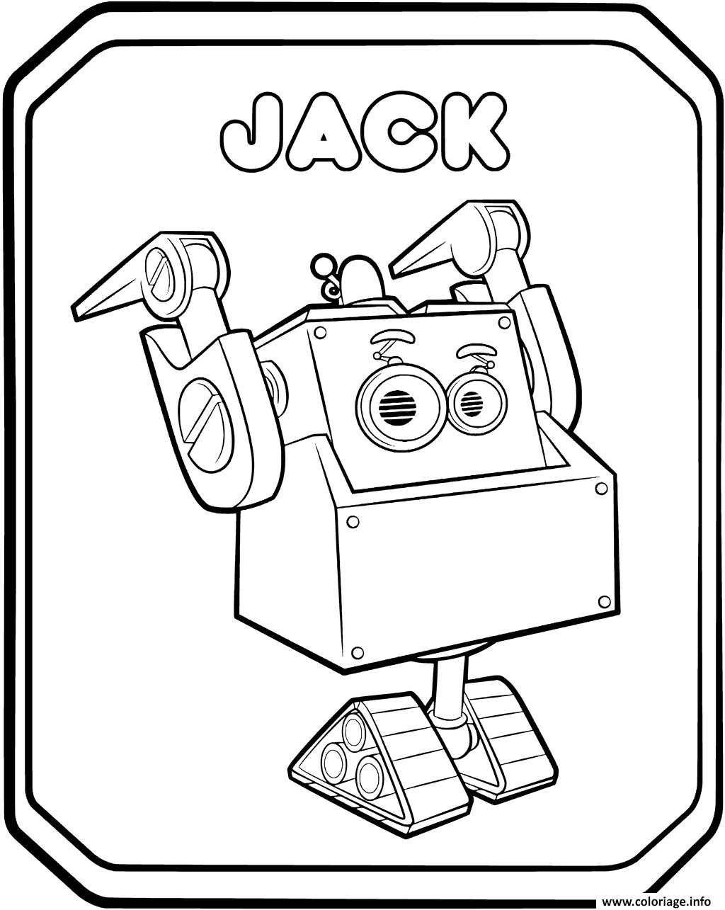 Dessin Rusty Rivets Robot Jack Coloriage Gratuit à Imprimer