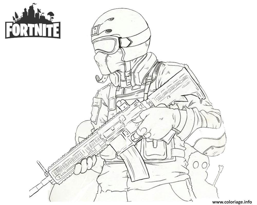 Coloriage Gratuit Fortnite.Coloriage Fortnite Soldier Jecolorie Com