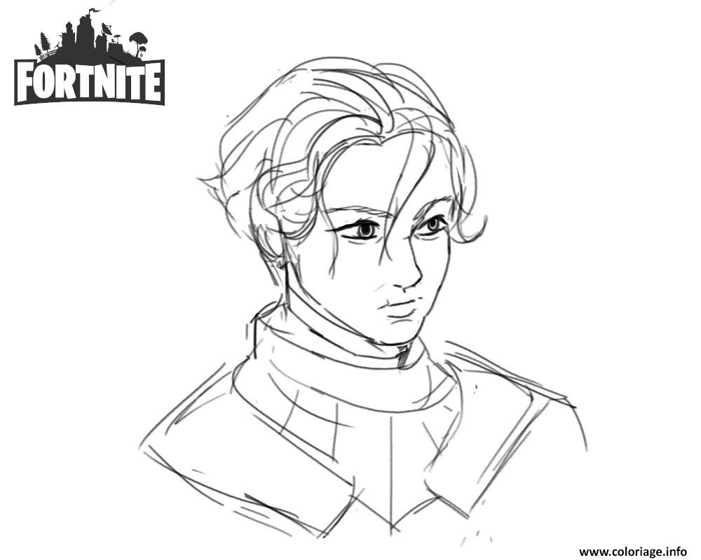 Coloriage Fortnite Brienne Of Tarth By Shantftw On Tumblr Dessin à Imprimer