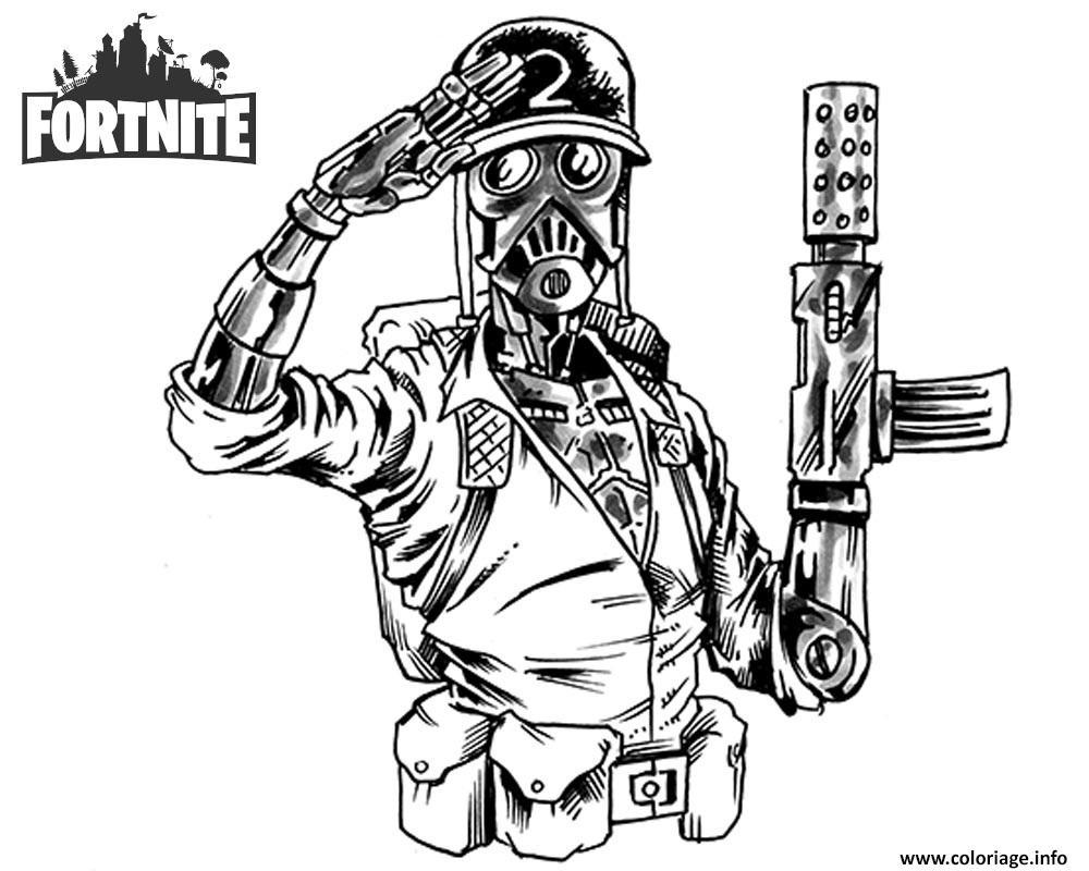 Dessin Fortnite Arme A Colorier