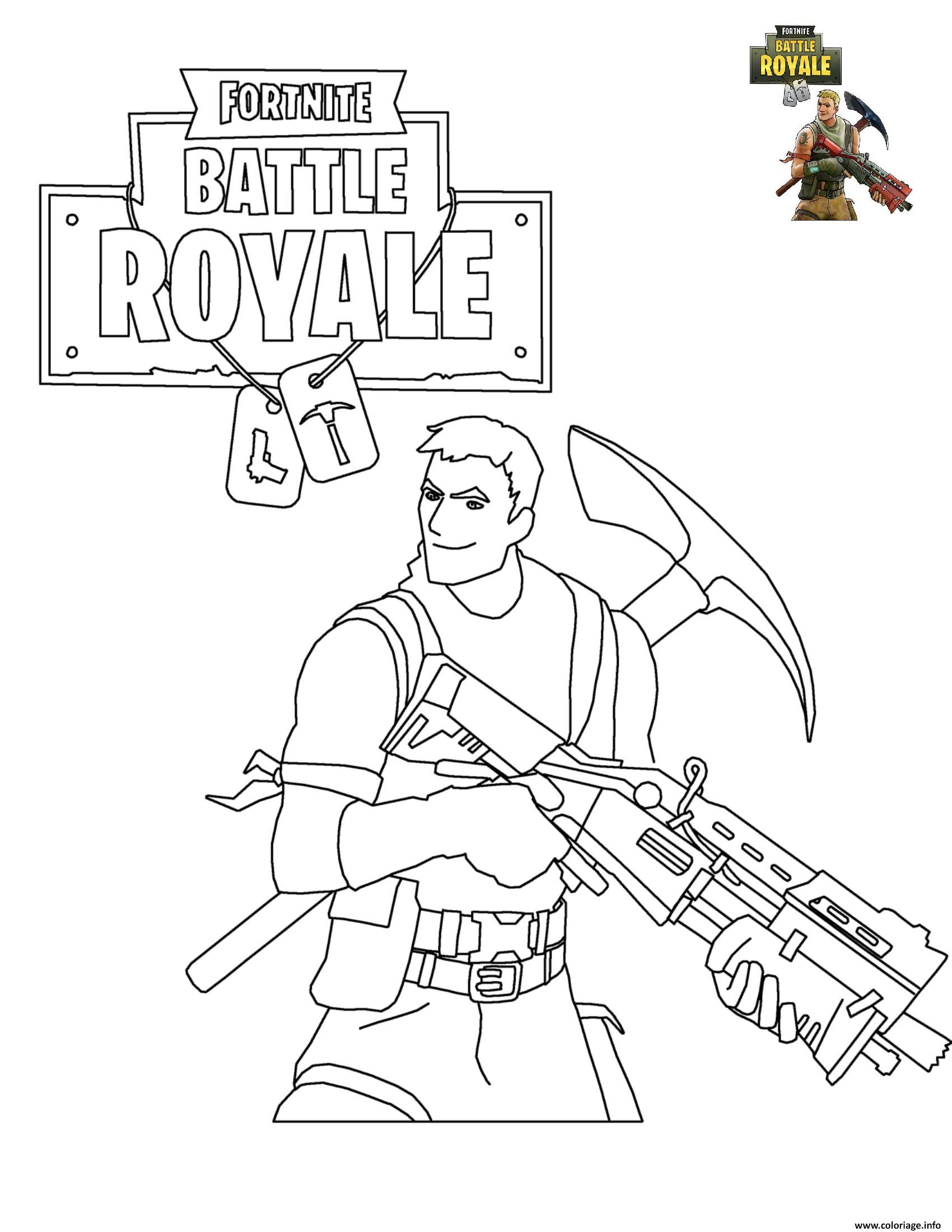 coloriage fortnite battle royale dessin imprimer