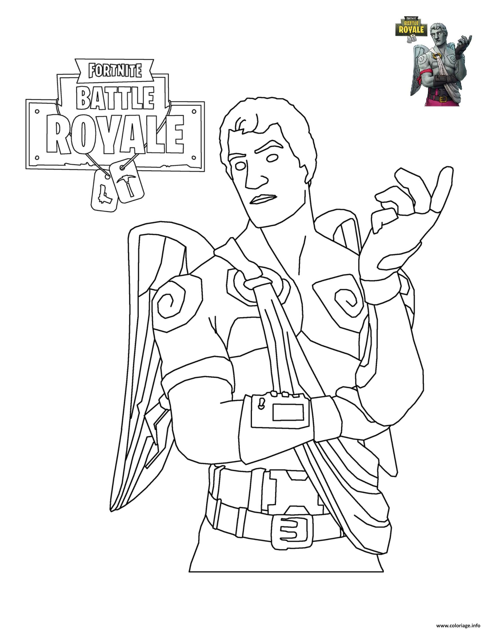 Coloriage Fortnite Battle Royale Personnage 6 Dessin