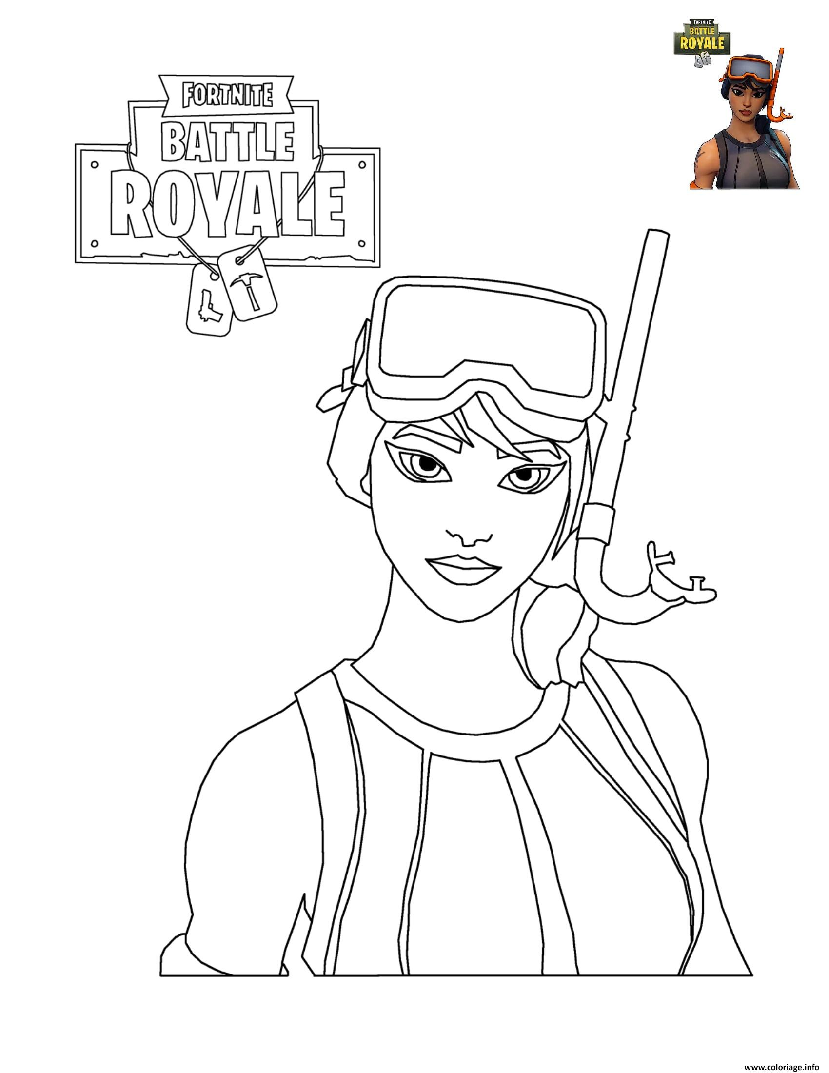 Coloriage Fortnite Battle Royale Personnage 7 Dessin