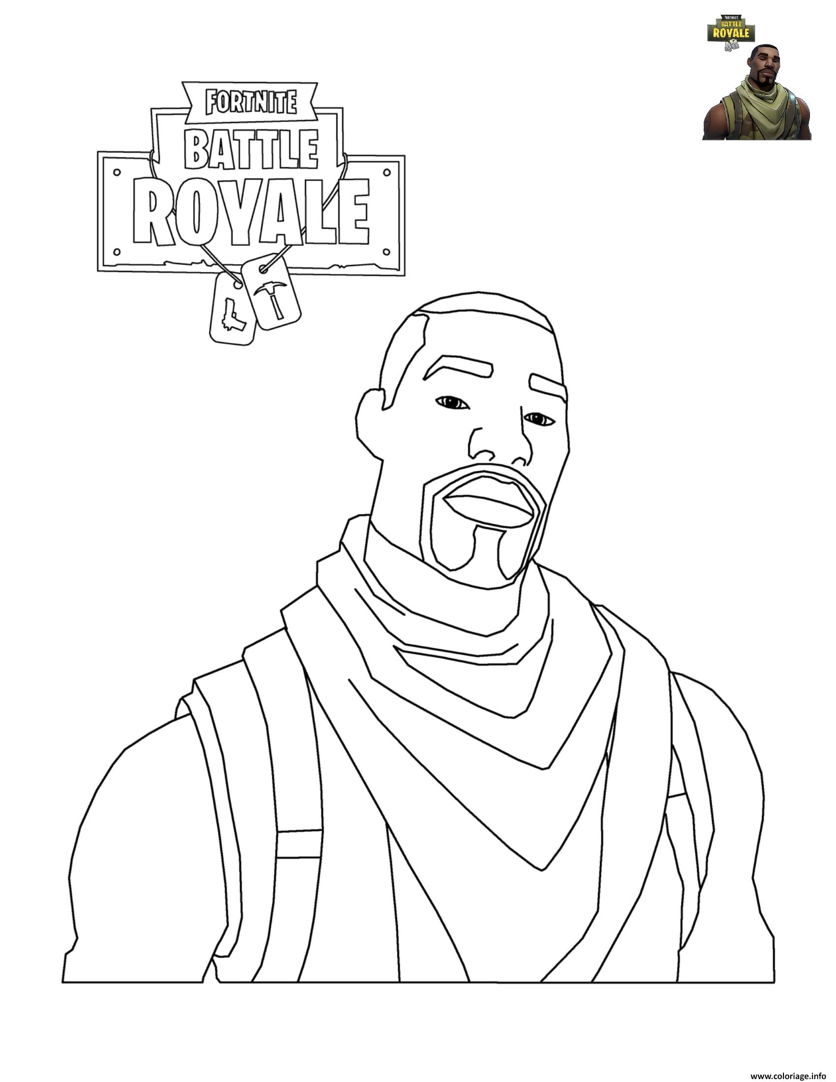 Coloriage fortnite battle royale personnage 2 - Personnage a dessiner ...