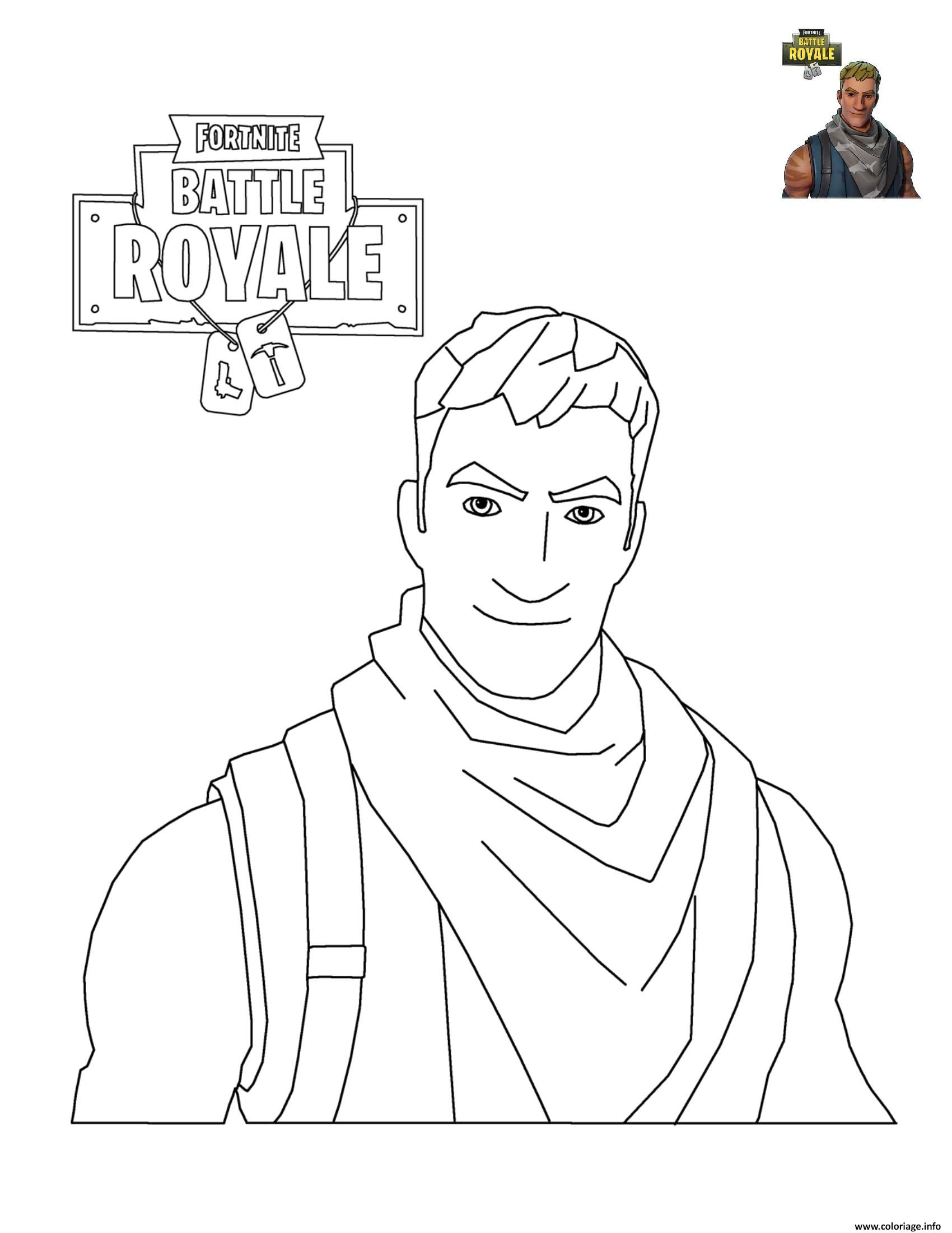 Coloriage Fortnite Battle Royale Personnage 3 Jecolorie Com