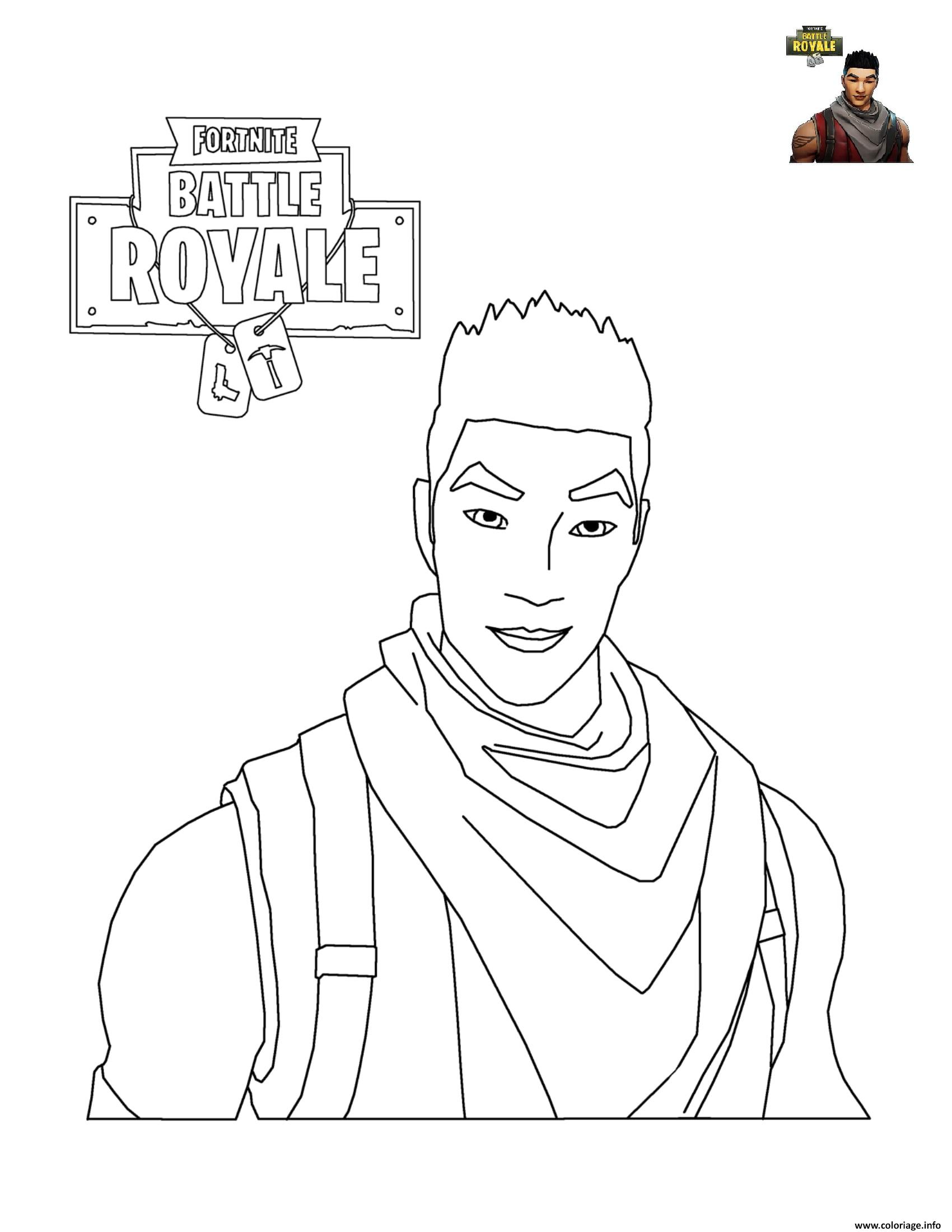 Coloriage Fortnite Battle Royale Personnage Jecolorie Com