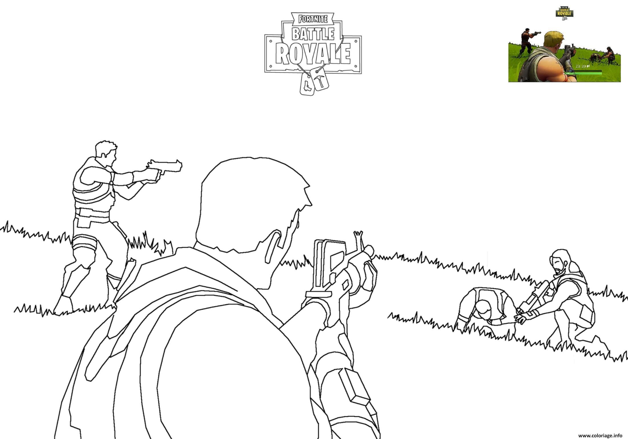 Coloriage Fortnite Battle Royale 2