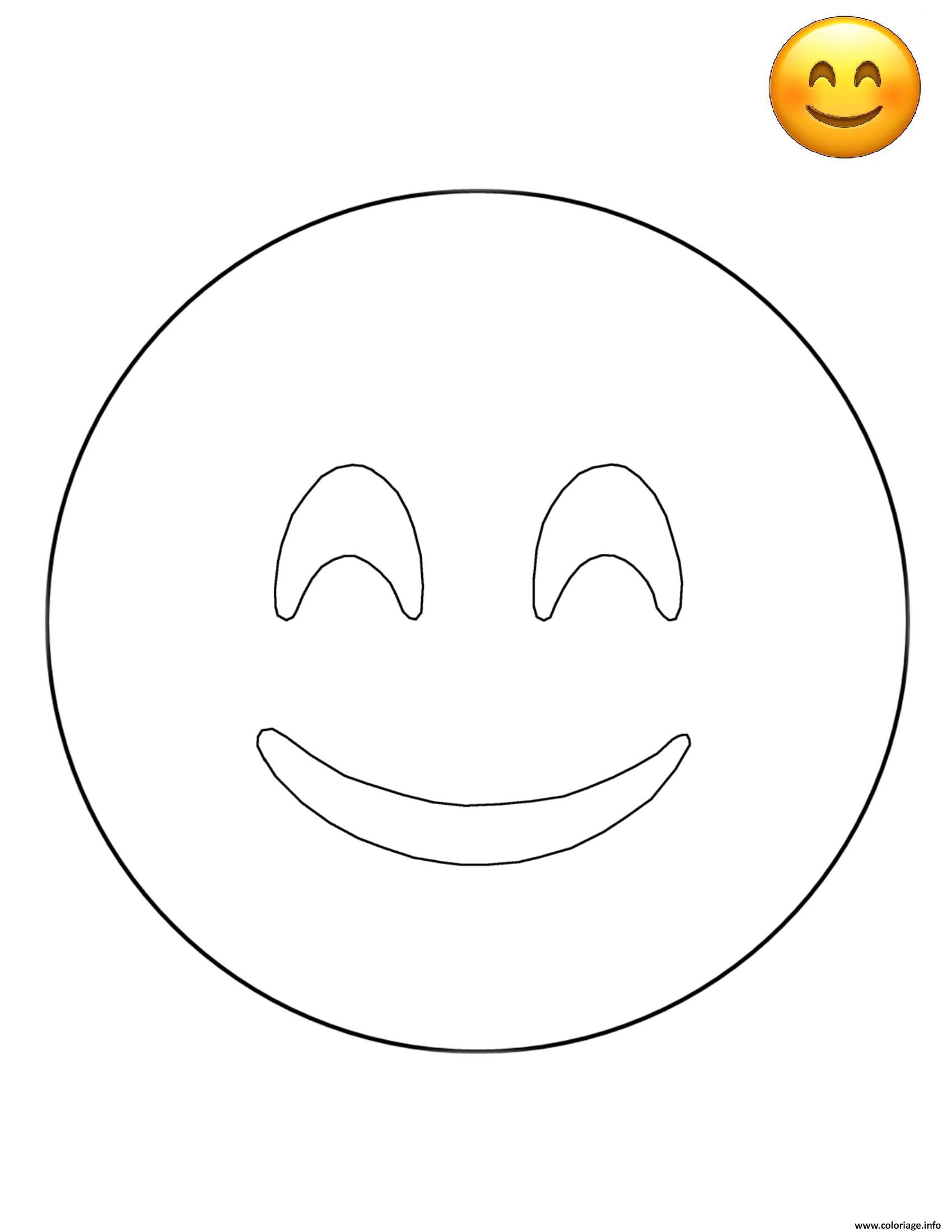 Coloriage emoji smiley face smiley dessin - Smiley coloriage ...