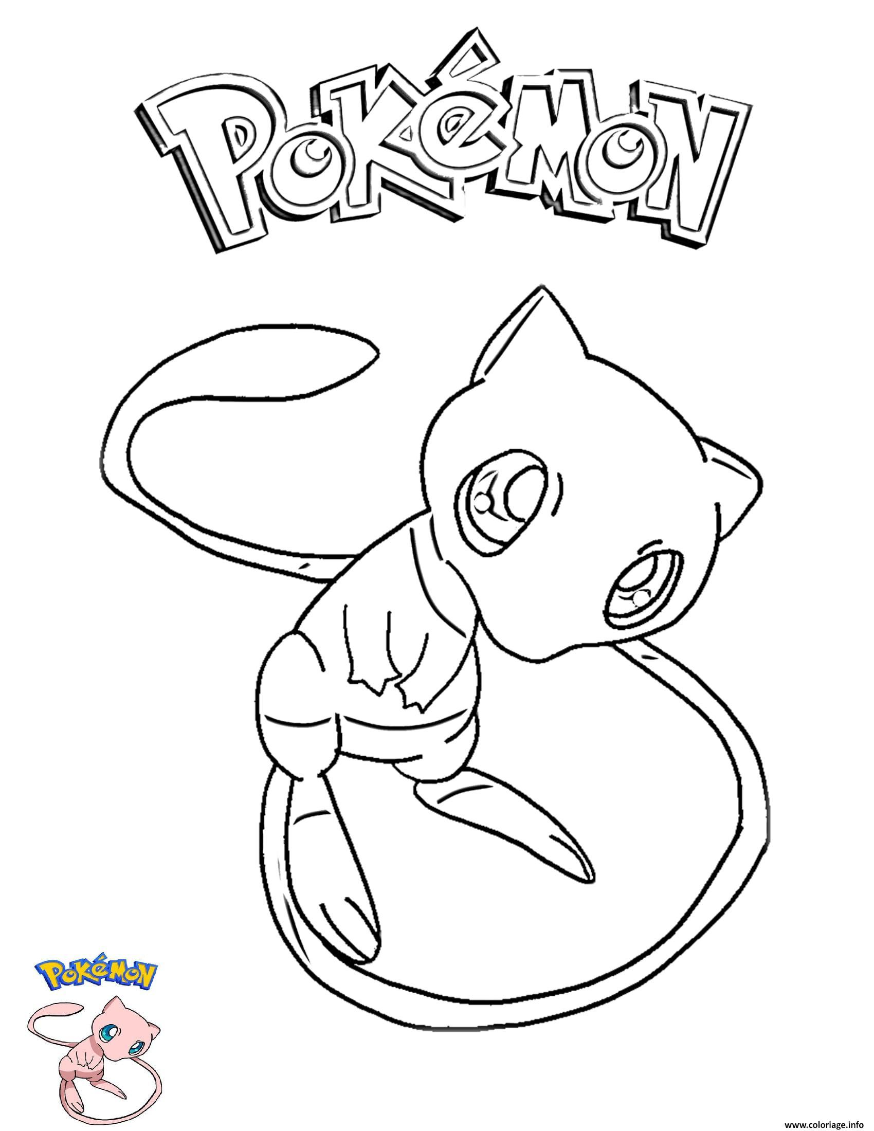 Frais Dessin De Pokemon A Colorier En Ligne