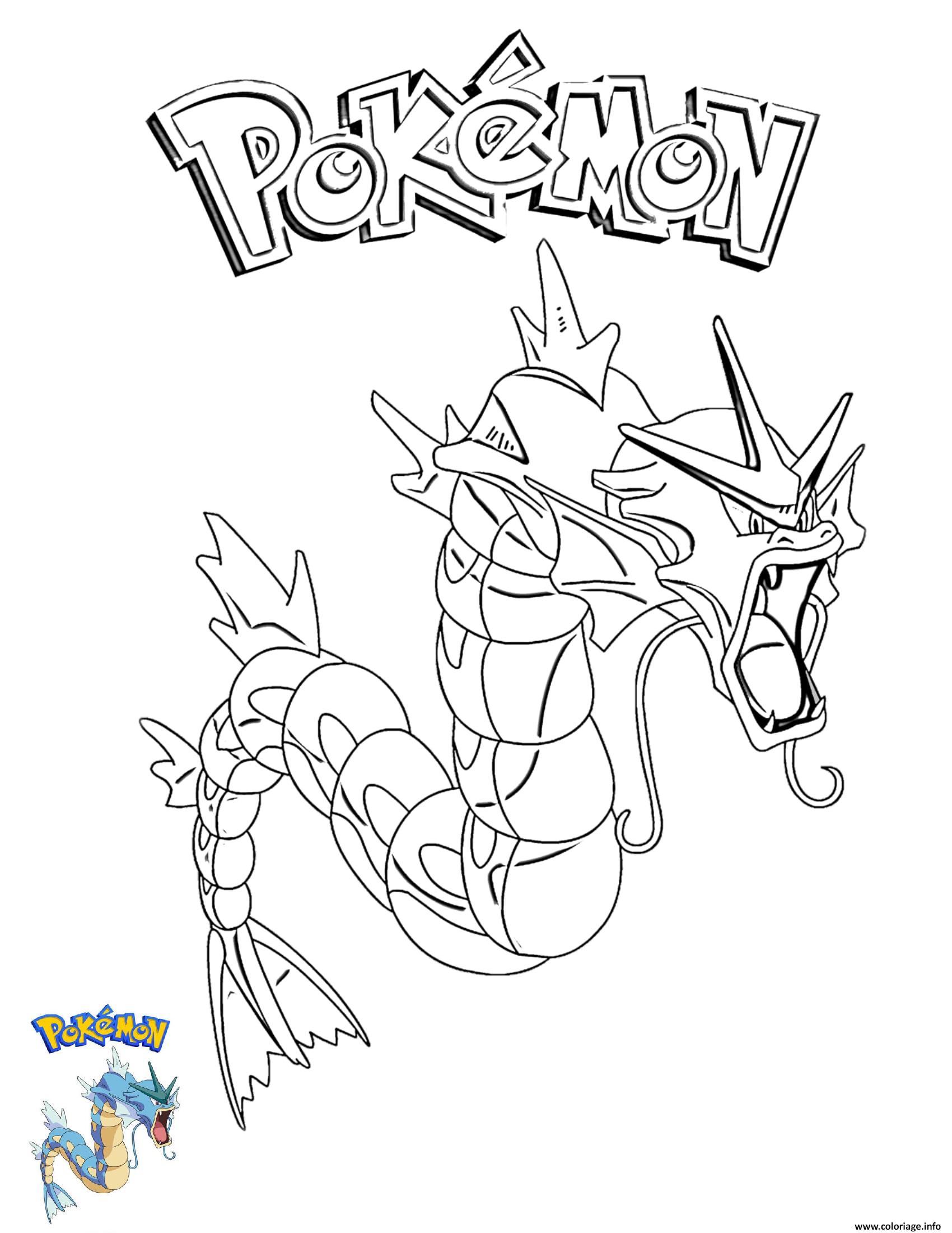 Dessin Gyarados Pokemon Coloriage Gratuit à Imprimer