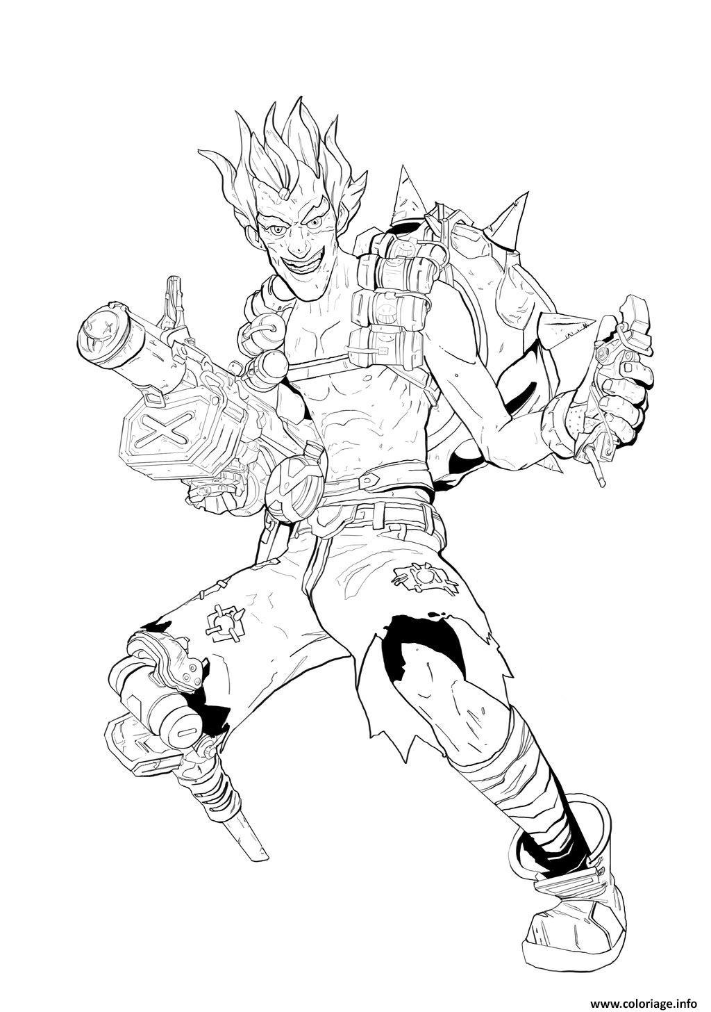 Dessin overwatch chacal heros de defense Coloriage Gratuit à Imprimer