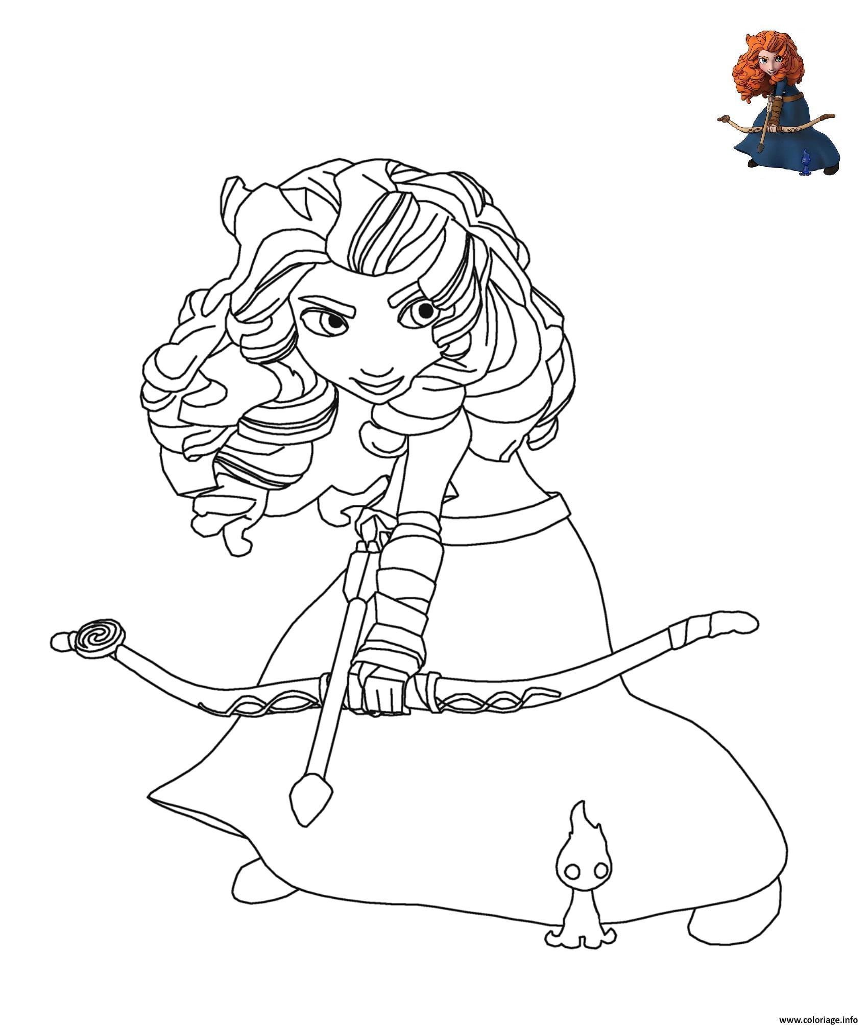 Coloriage merida la princesse rebelle de disney - Coloriage de rebelle ...