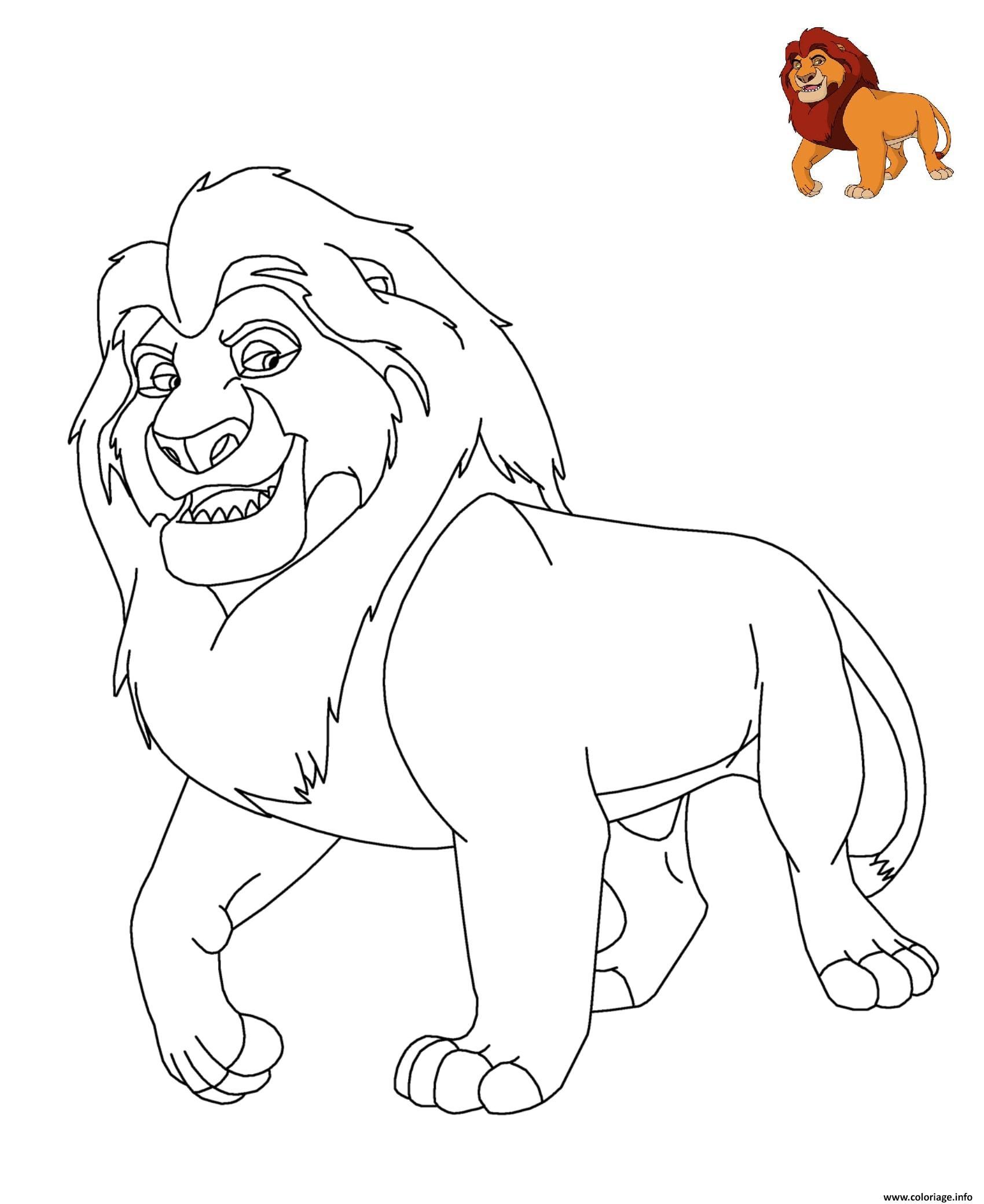 Dessin Le Roi Lion Disney Coloriage Gratuit à Imprimer