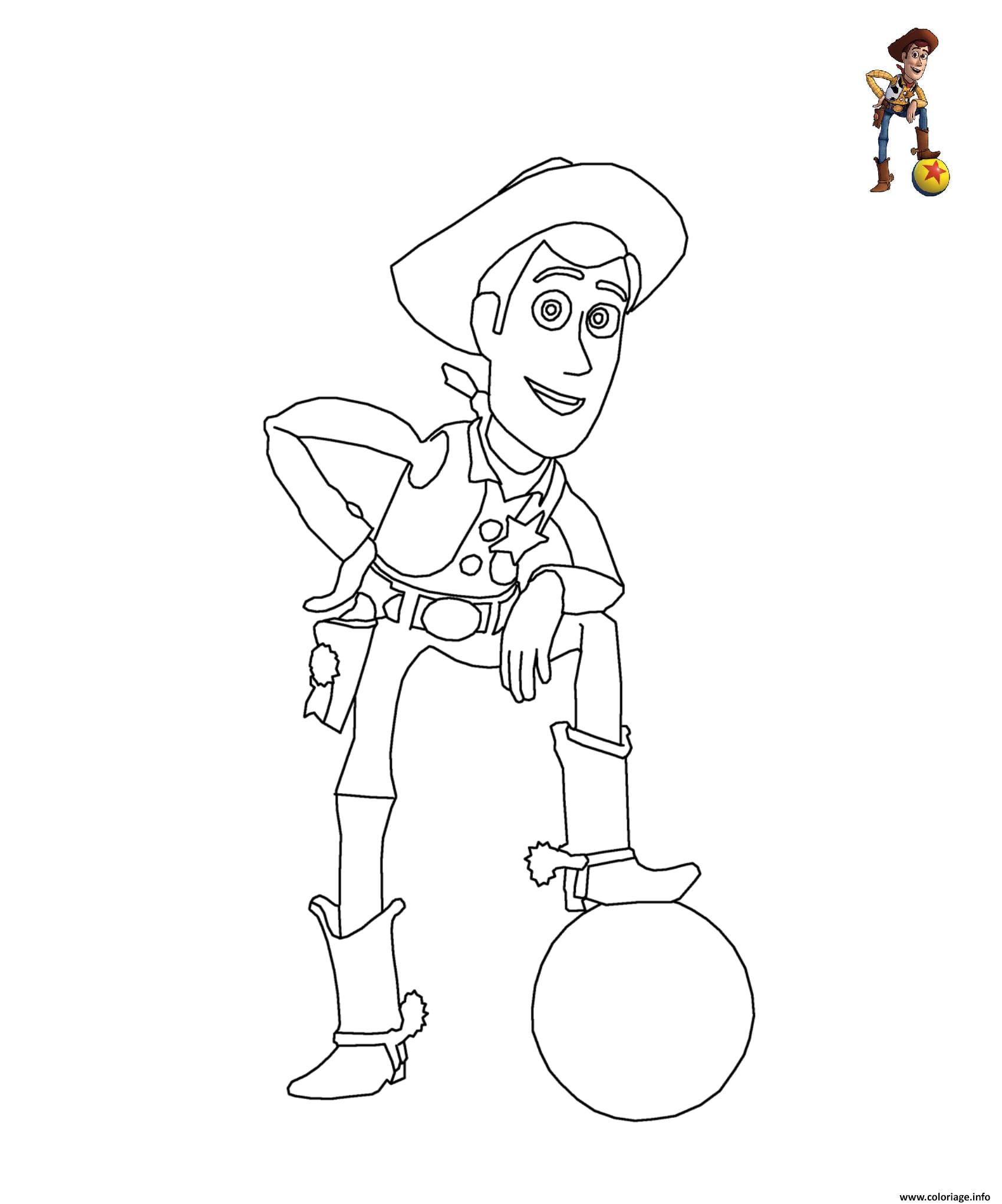 Coloriage Disney Woody.Coloriage Sherif Woody Toy Story Disney Jecolorie Com