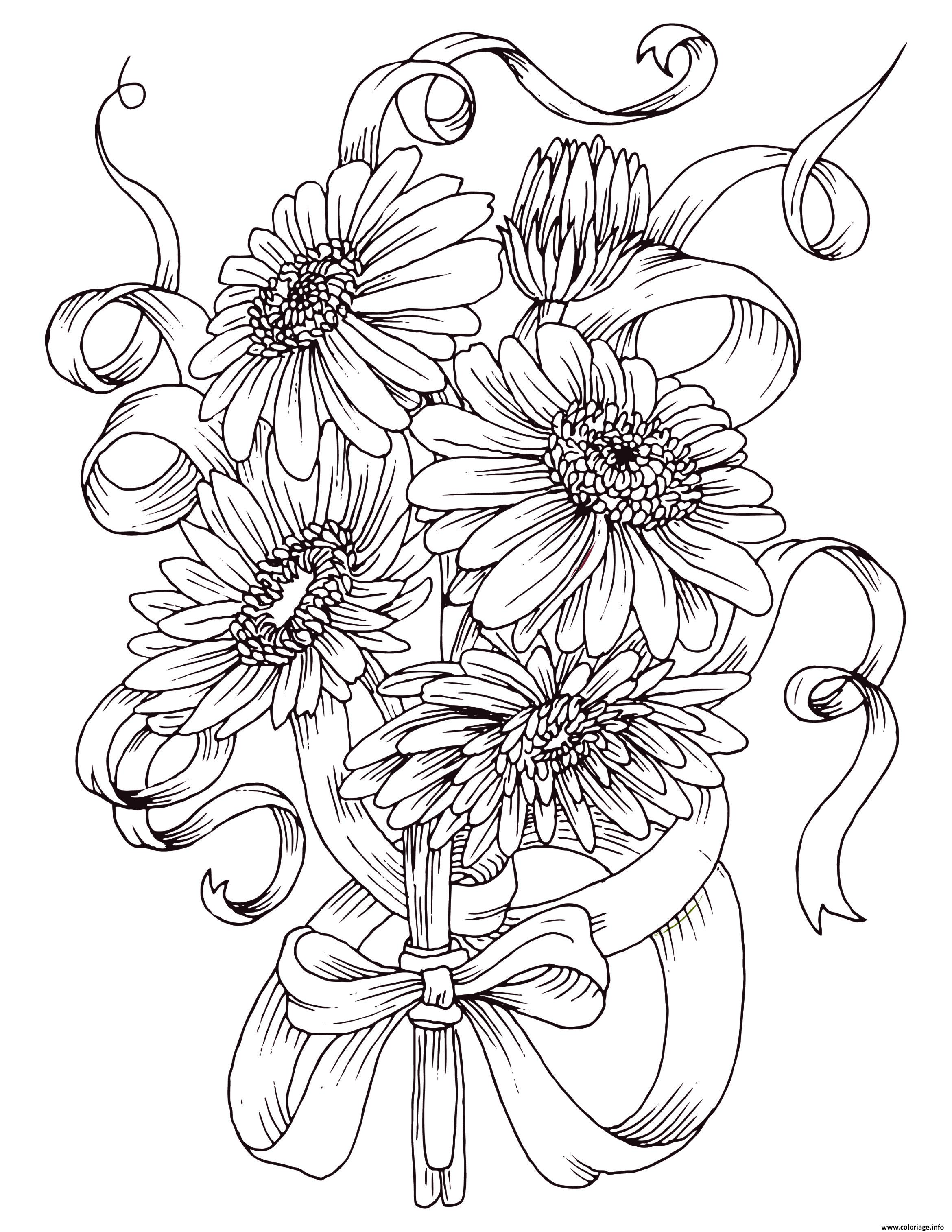 Luxe Dessin A Colorier Gratuit Fleurs