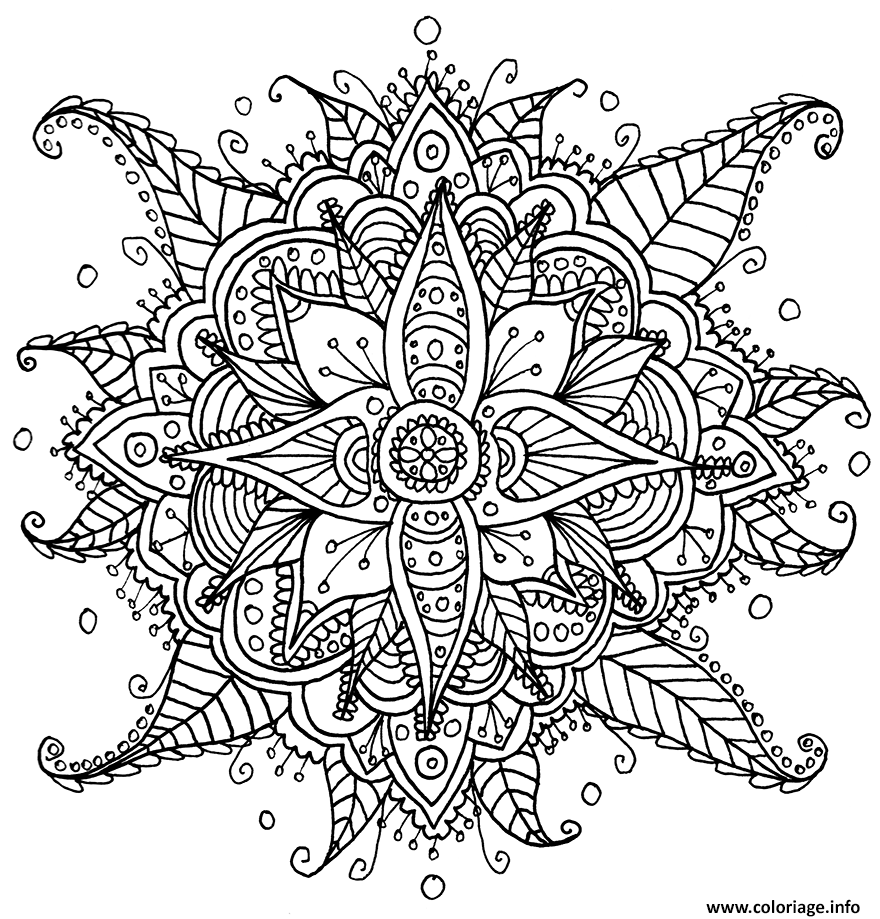Coloriage Mandala Fleur Helfypro