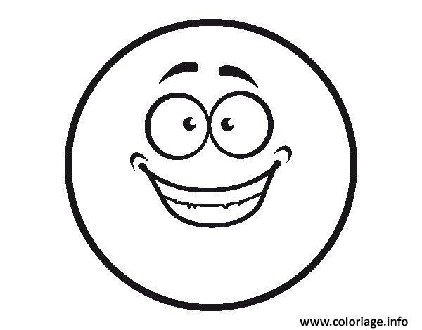 Dessin smiley content Coloriage Gratuit à Imprimer