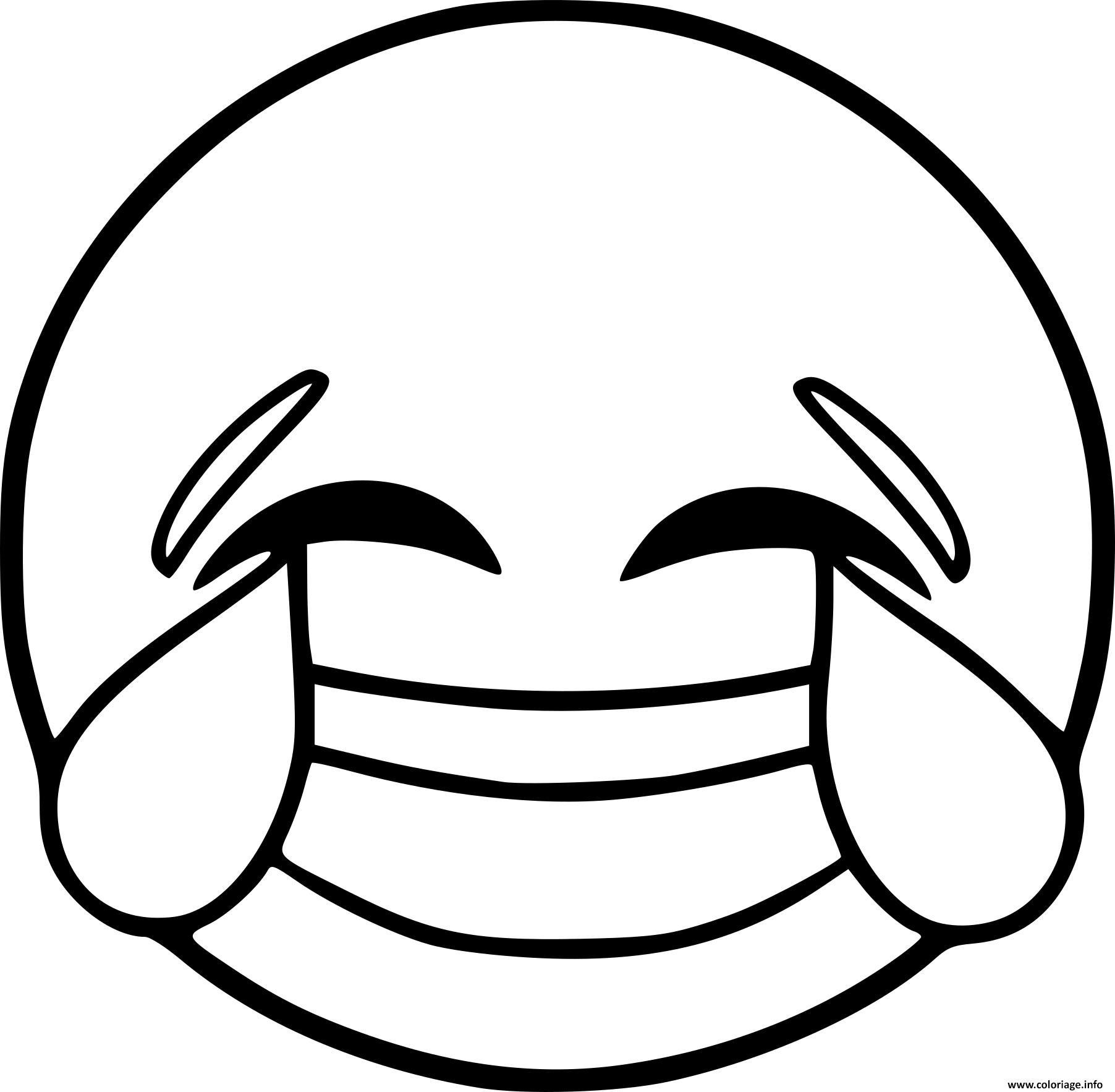 Coloriage Smiley Emoji Rire Dessin