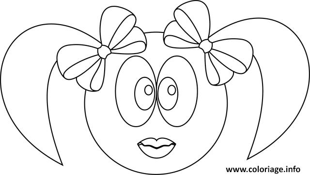Coloriage smiley fille - Smiley a imprimer gratuit ...