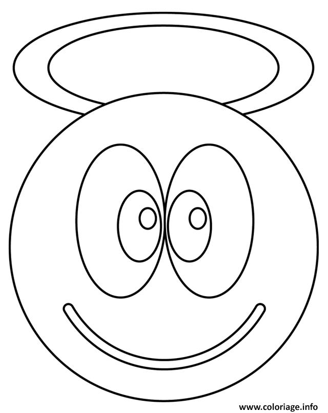 Coloriage Smiley Ange Dessin Smiley A Imprimer