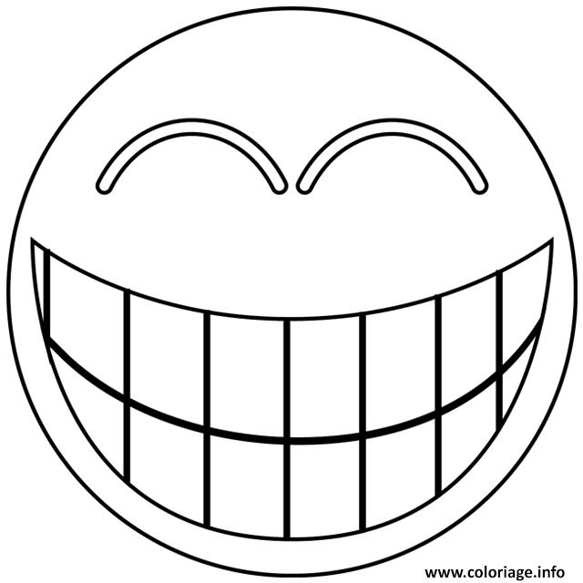 Dessin smiley rire Coloriage Gratuit à Imprimer
