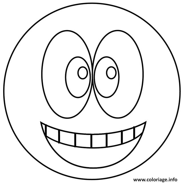 Dessin smiley sourire Coloriage Gratuit à Imprimer