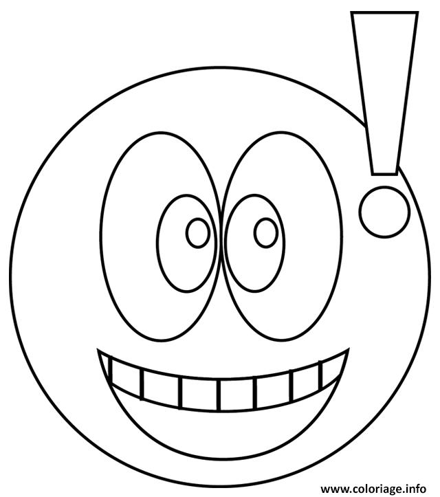 Dessin smiley exclamatif Coloriage Gratuit à Imprimer