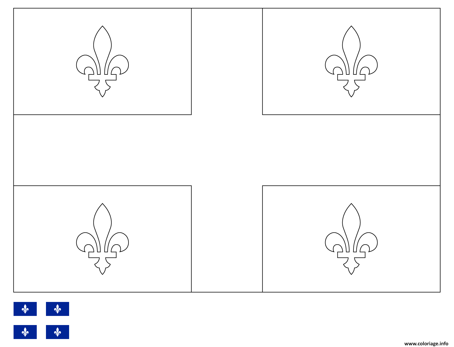 Dessin drapeau du quebec Coloriage Gratuit à Imprimer