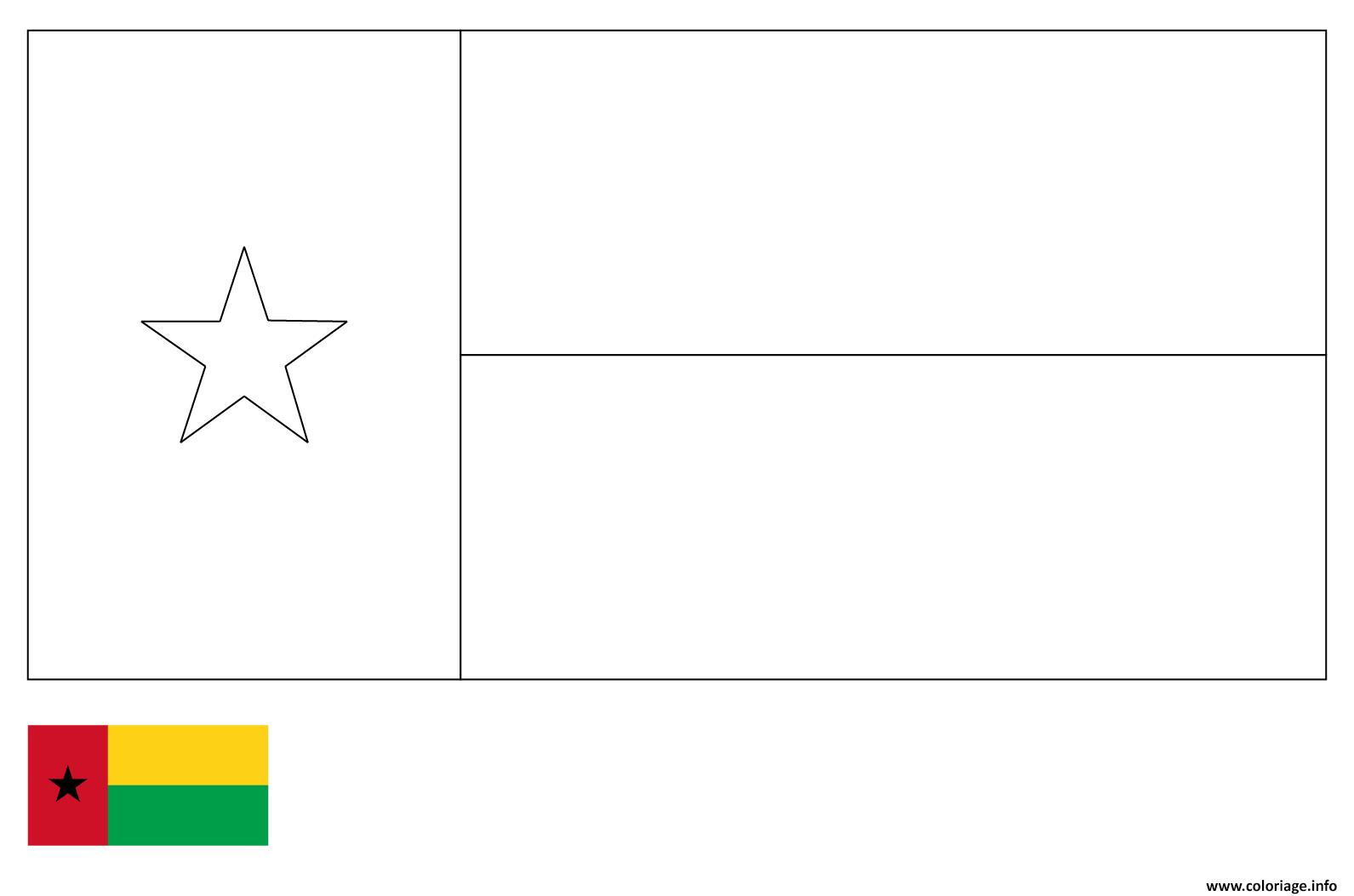 Dessin drapeau guniee Coloriage Gratuit à Imprimer