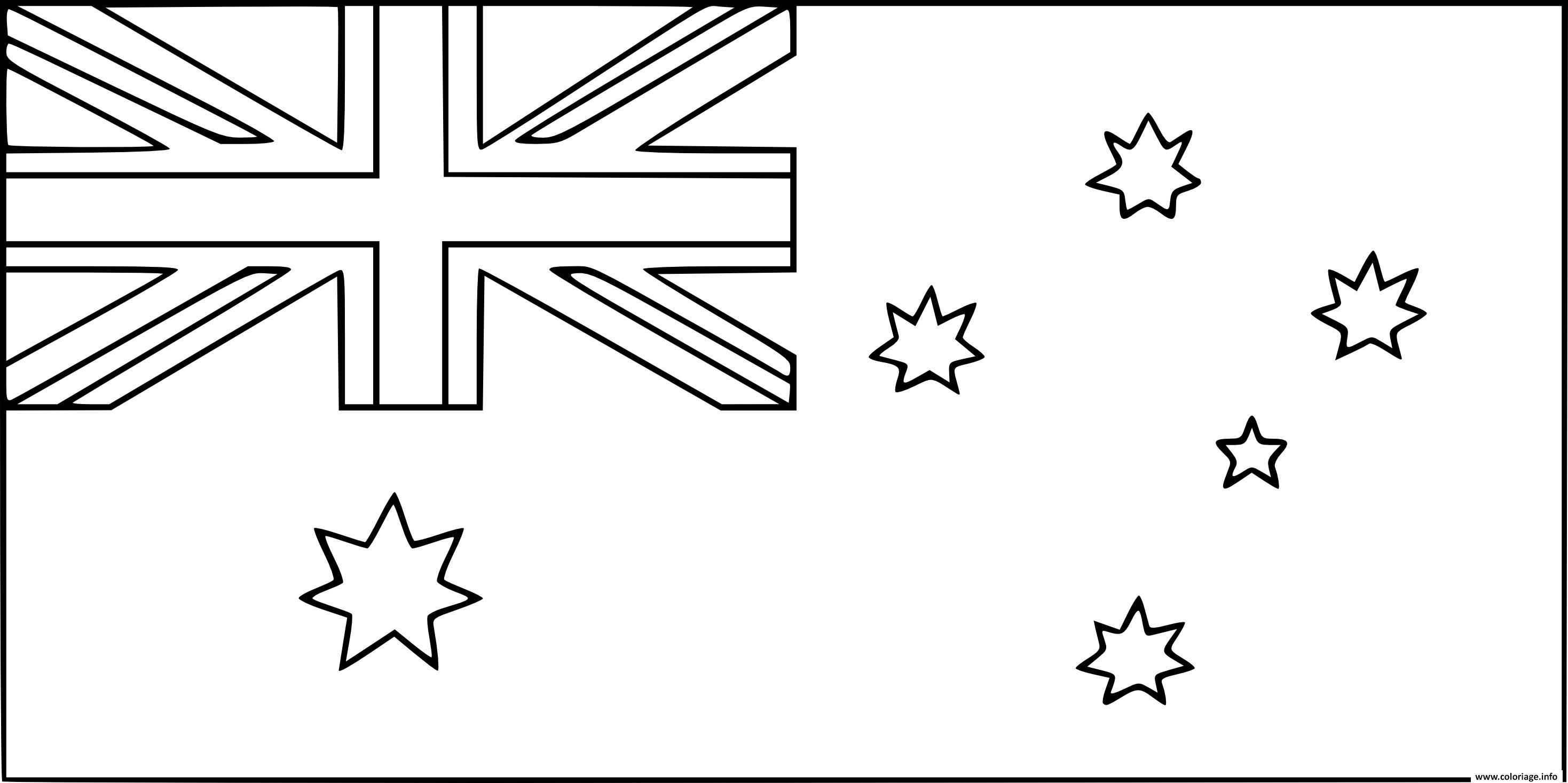 Dessin drapeau australie Coloriage Gratuit à Imprimer