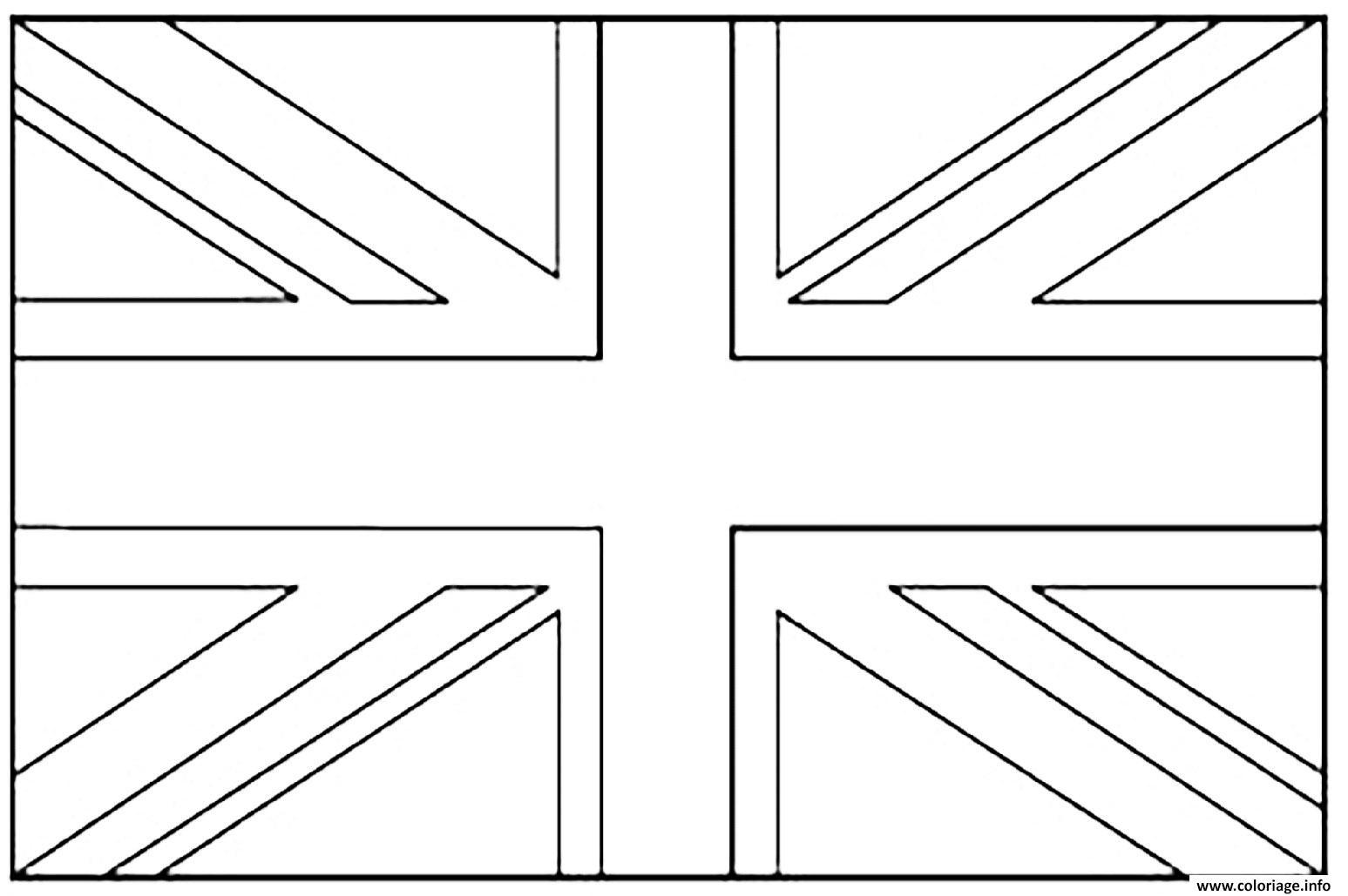 Coloriage drapeau angleterre dessin - Dessiner le drapeau anglais ...