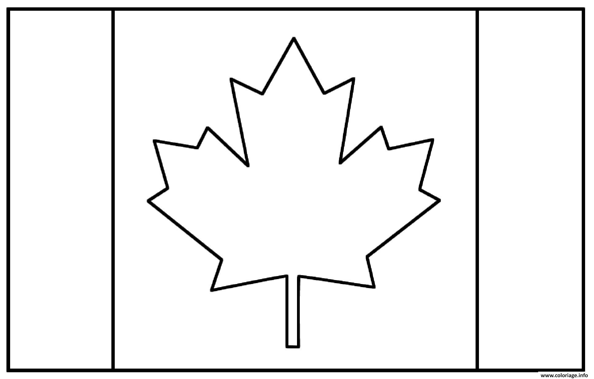 drapeau canada coloriage dessin