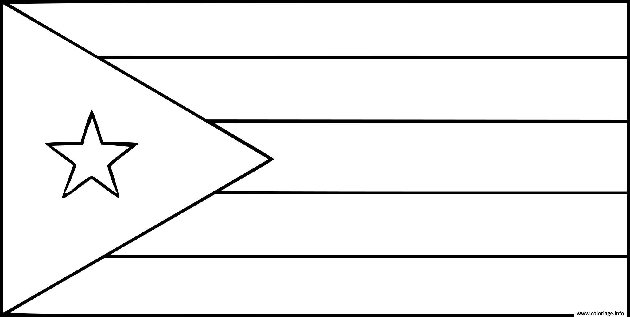 Coloriage drapeau cuba dessin - Coloriage drapeau ...