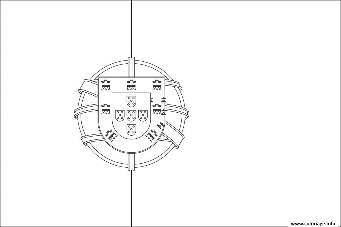 Coloriage drapeau portugal - Drapeau portugais a imprimer ...