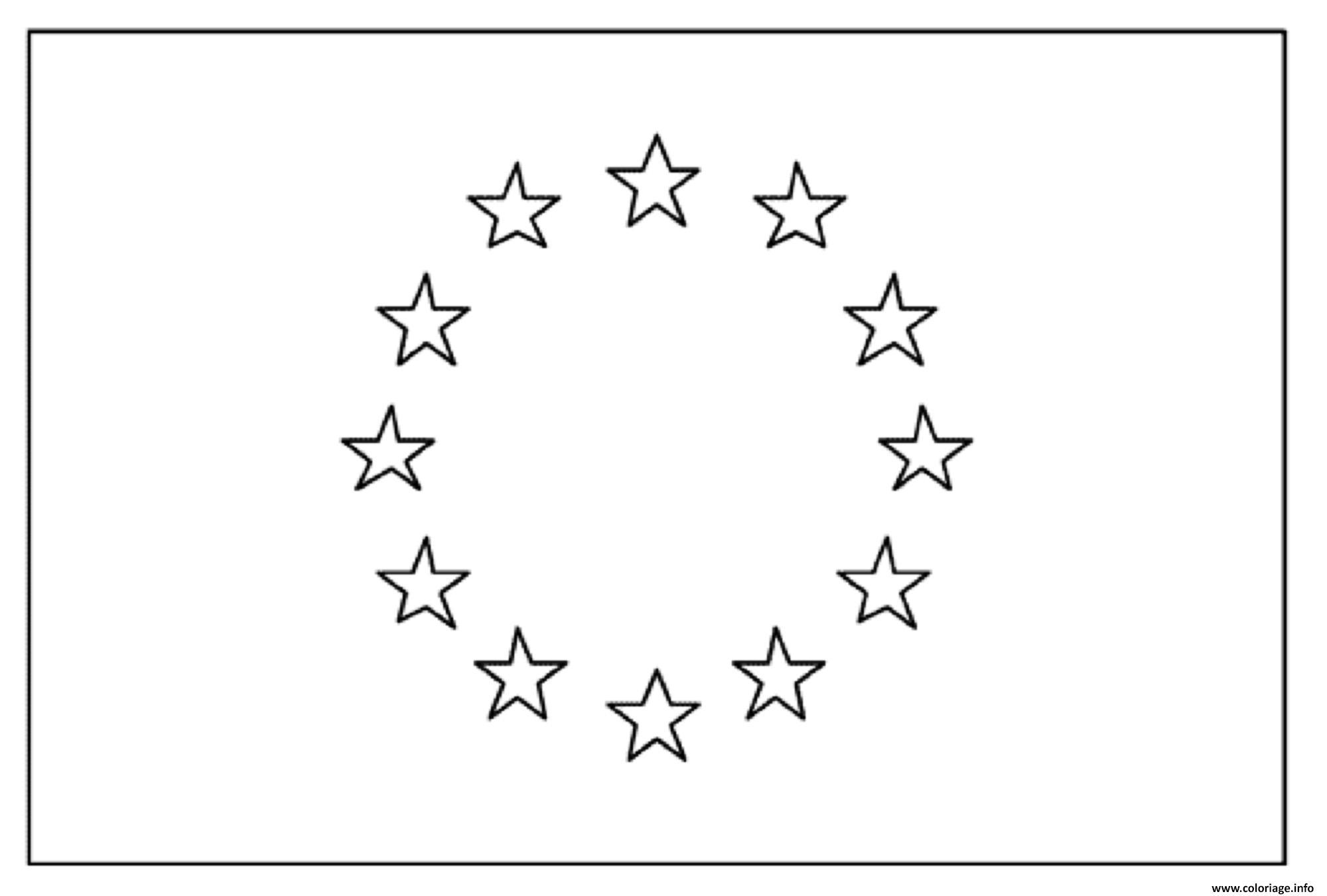 Dessin drapeau europe union europeenne Coloriage Gratuit à Imprimer
