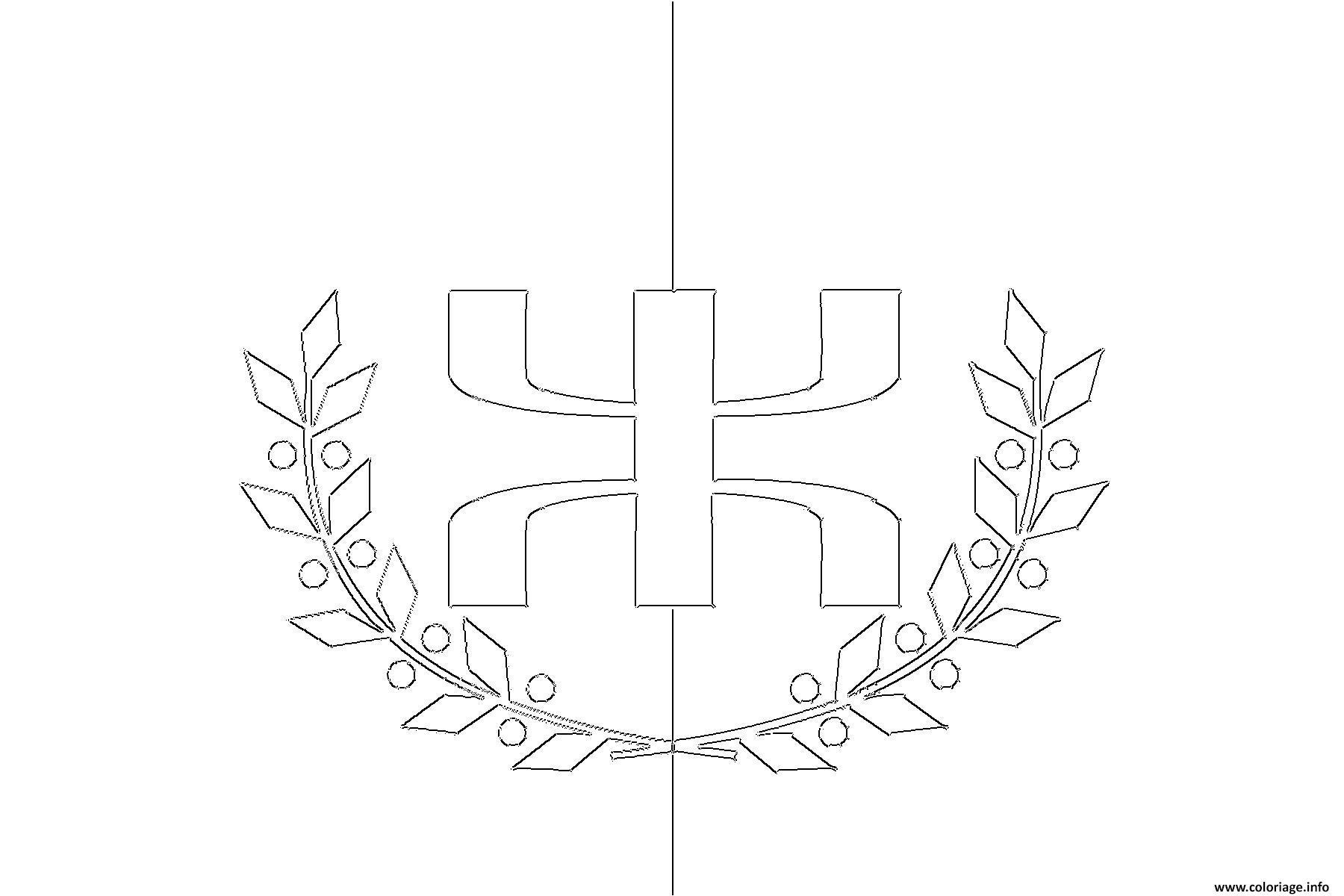Dessin drapeau kabyle Coloriage Gratuit à Imprimer