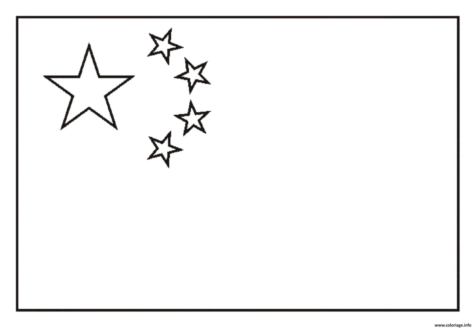 Dessin drapeau chine Coloriage Gratuit à Imprimer