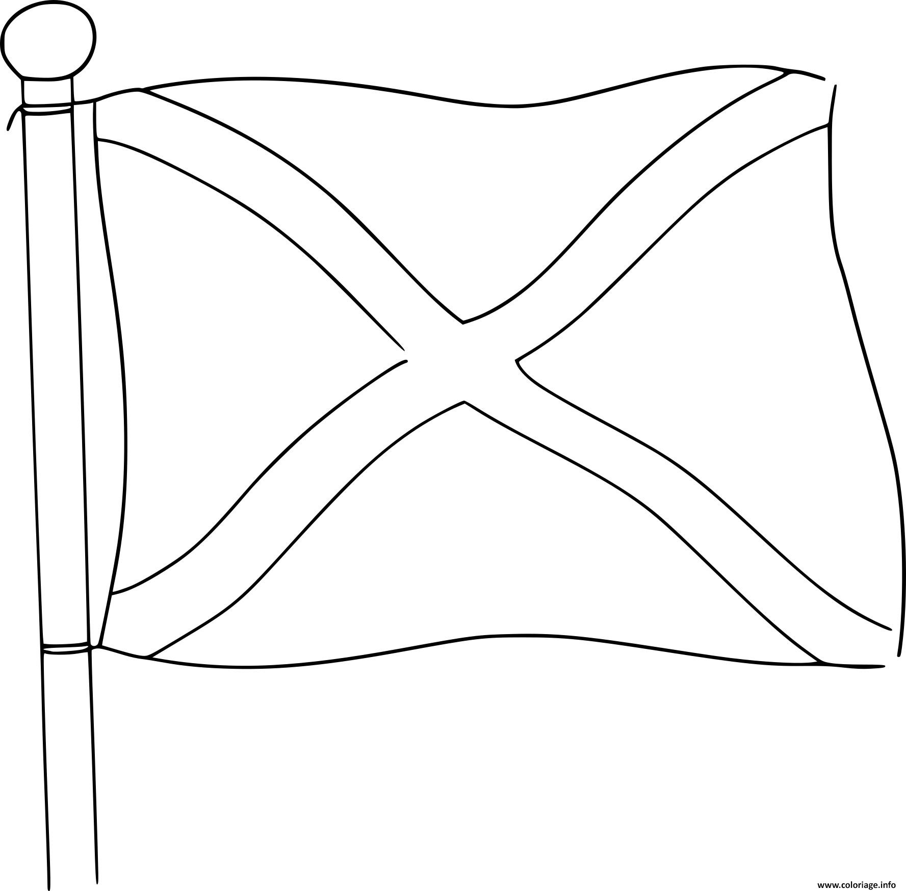 Dessin drapeau ecosse Coloriage Gratuit à Imprimer