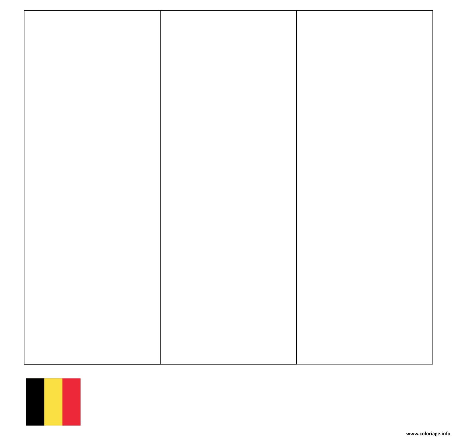 Coloriage Drapeau Belgique dessin