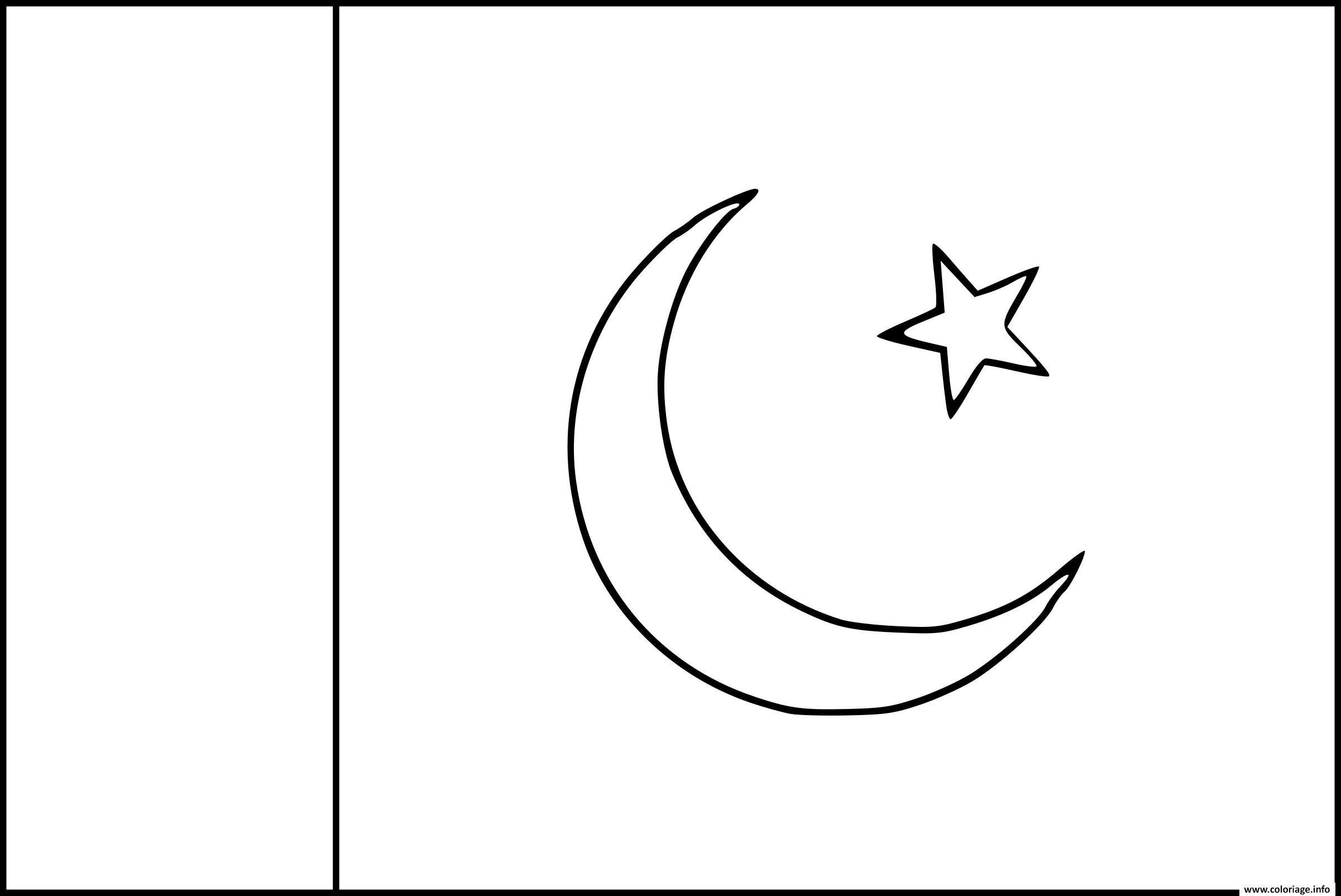 Coloriage drapeau pakistan dessin - Coloriage magique vierge ...