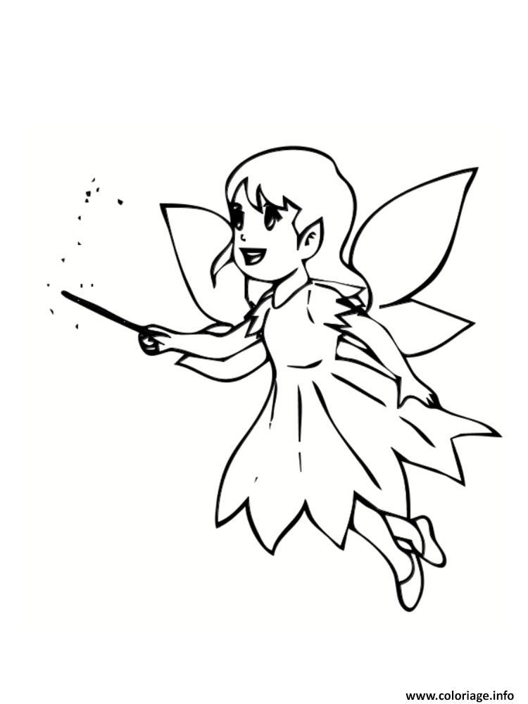 Coloriage dessin fee facile - Image a colorier et imprimer gratuitement ...