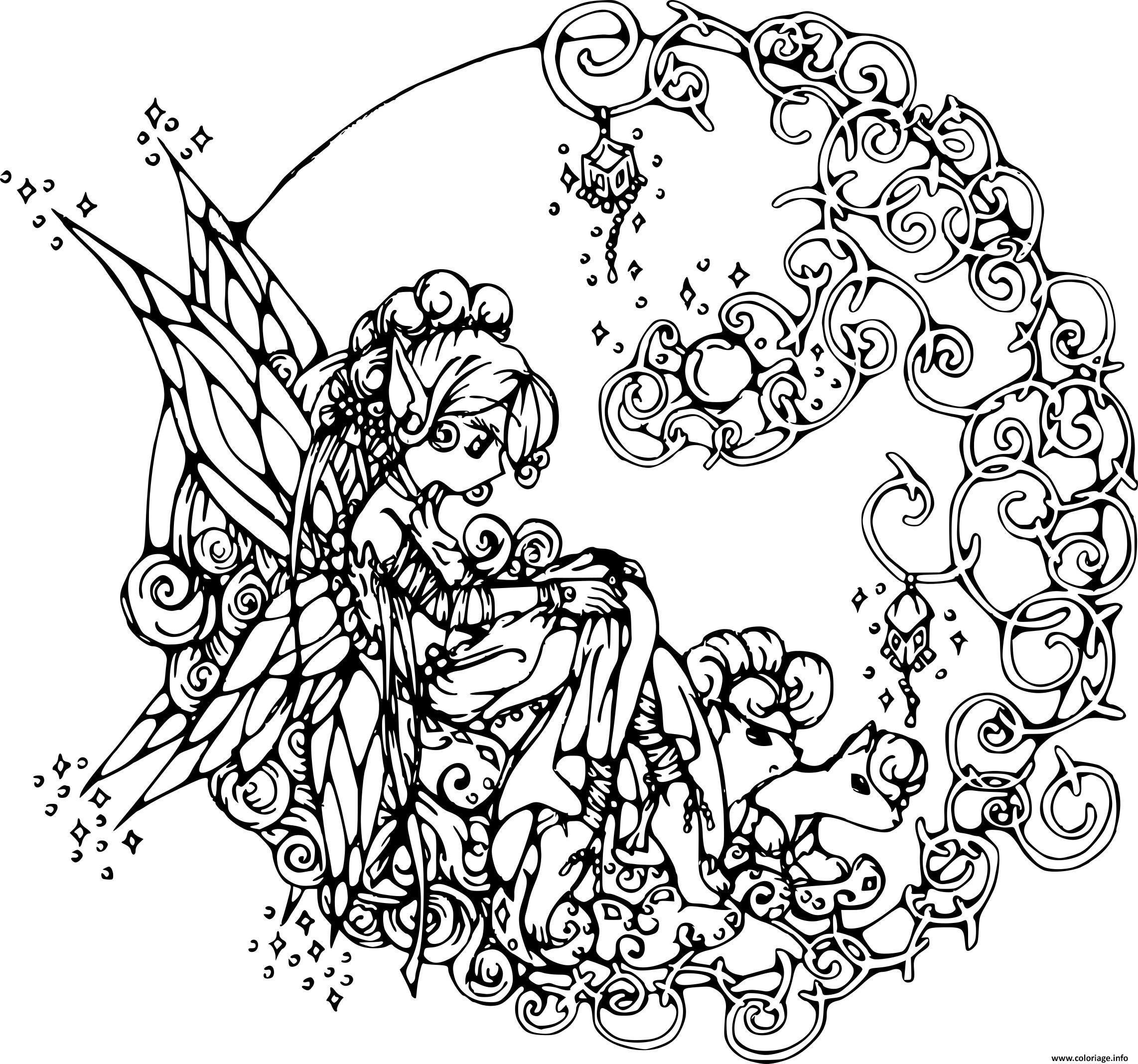 Coloriage fee adulte - Dessins a colorier gratuit ...