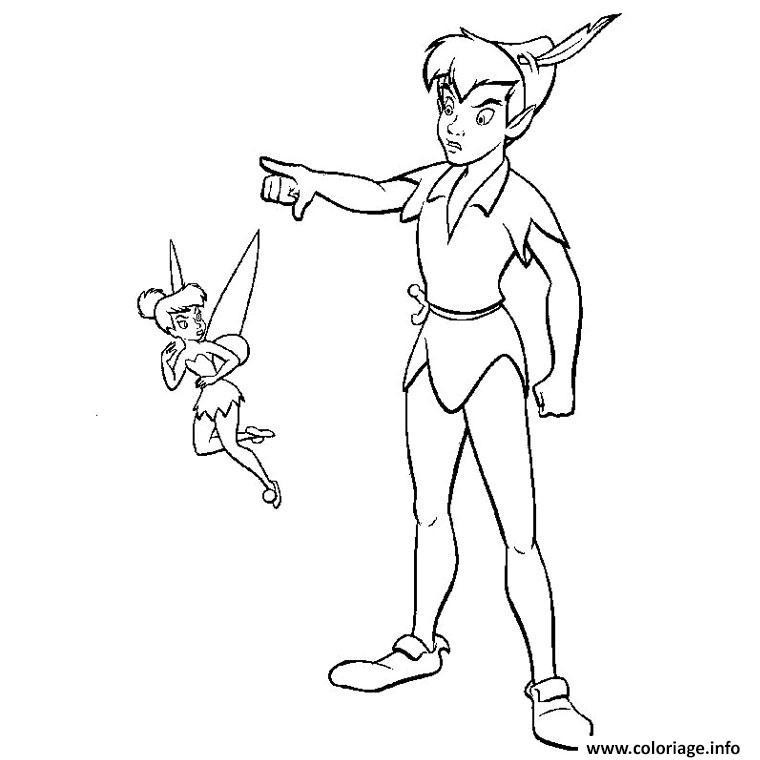 Coloriage Fee Clochette Et Peter Pan Dessin