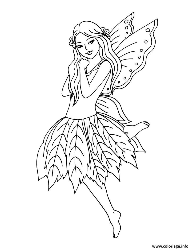 Coloriage Fee Bleue.Coloriage Fee Et Elfe Jecolorie Com