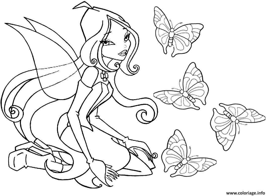 Coloriage winx fee - Coloriage barbie fee ...
