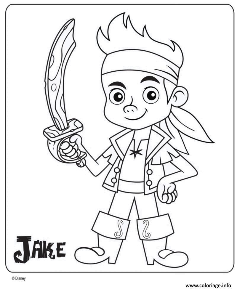 Coloriage jake pirate maternelle disney junior dessin - Disney junior coloriage ...