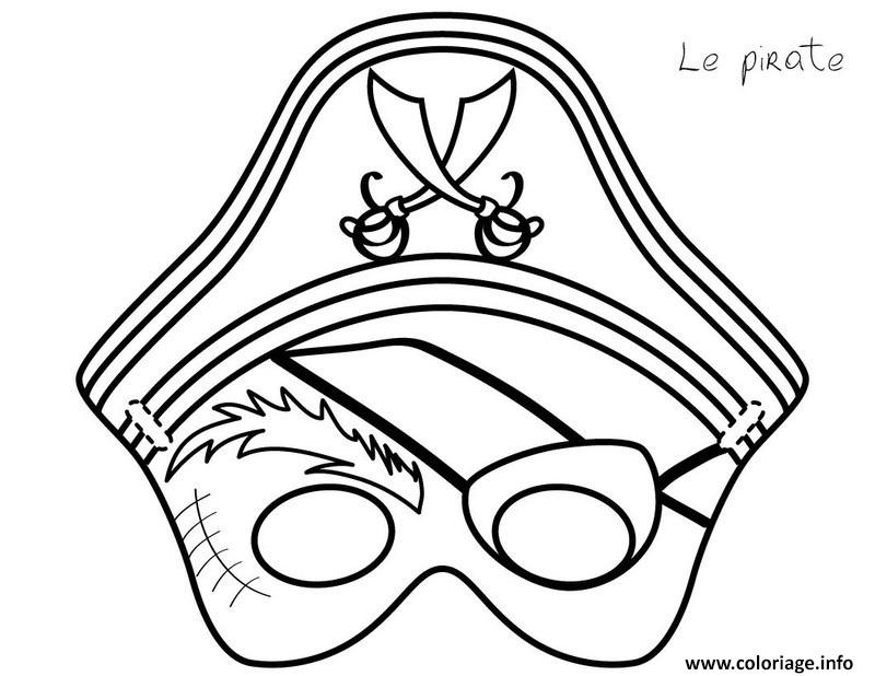 Coloriage masque de pirate - Coloriage fille pirate ...